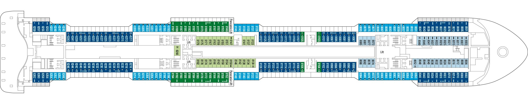 MSC Virtuosa, Deckplan | MSC Cruises